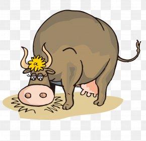 Cartoon Cow - Jersey Cattle Beef Cattle Milk Hay Clip Art PNG
