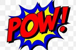 Pow - Batman Superman Comic Book Superhero Comics PNG