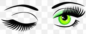 Hand-painted Eyes - Wink Eye Clip Art PNG