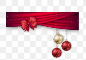 Vector Red Bow - Christmas Gift Card Template Holiday PNG
