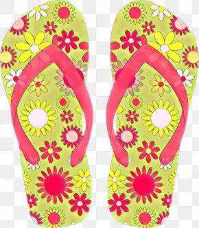 Shoe Slipper - Flip-flops Footwear Pink Magenta Slipper PNG