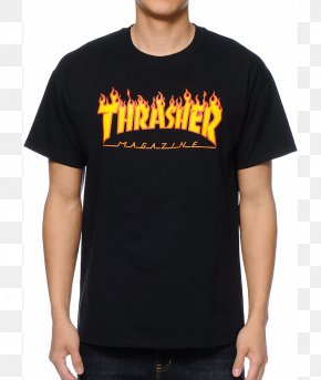 T-shirt - T-shirt Thrasher Twin Shop Top PNG