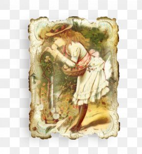 Angel Painting - Watercolor Spring PNG