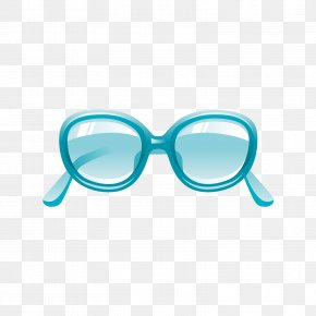 A Pair Of Blue Sunglasses - Goggles Sunglasses Blue PNG