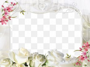 White Flower Frame - Picture Frame Photography PNG