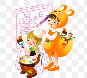 Children Learn To Draw Cartoon Hand-painted Color Drawing Board - Caricature Drawing Cartoon PNG