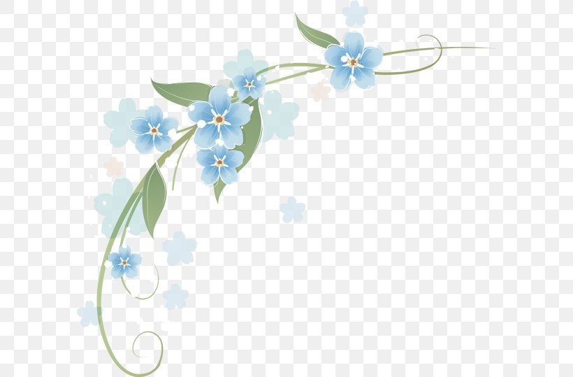 Clip Art Borders And Frames Flower Image, PNG, 600x539px, Borders And Frames, Aqua, Blue, Borage Family, Branch Download Free