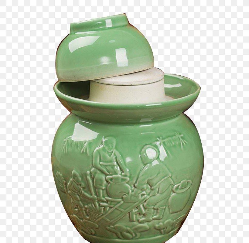 Ceramic Pottery Jar Pickling, PNG, 800x800px, Ceramic, Artifact, Concepteur, Crock, Green Download Free