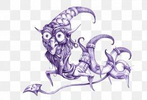 Ballpoint Pen Monster Illustrator - Ballpoint Pen Artwork Illustration PNG