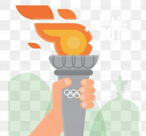 Brazil Rio Olympic Torch - 2016 Summer Olympics Torch Template PNG