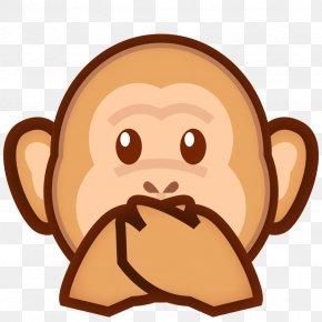 Monkey - Three Wise Monkeys Emoji Evil Symbol PNG