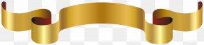 Luxury Golden Banner Clip Art Image - Gold Banner Clip Art PNG