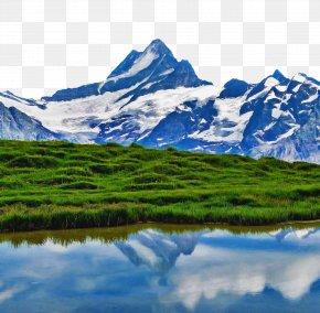 Natural Environment Water - Mountainous Landforms Natural Landscape Mountain Nature Reflection PNG