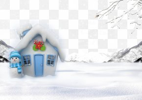 Children Painting Snow House - Snowman Christmas House Snowflake PNG
