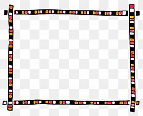Picture Frame Rectangle - Black Background Frame PNG