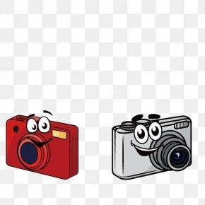 SLR Camera Cartoon - Digital Cameras Cartoon Digital SLR PNG