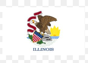 Flag - Flag And Seal Of Illinois State Flag Flag Of The United States PNG