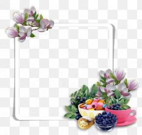 Blueberry Fruit - Floral Design Flower Purple PNG