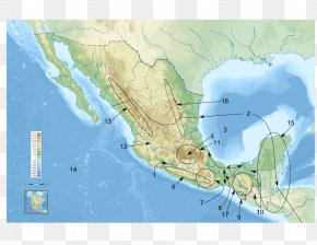 Map - Sierra Madre Oriental Map Mesoamerica Atlas Physische Karte PNG