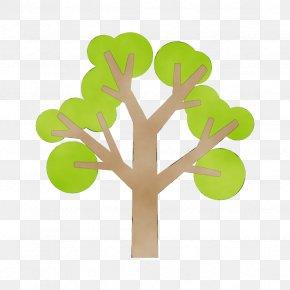 Plant Stem Symbol - Green Leaf Tree Plant Symbol PNG