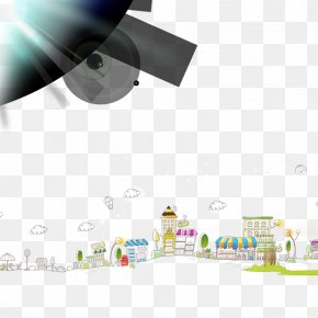 Cartoon City - Cartoon Drawing Building PNG