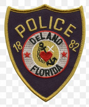 Florida Police Badge - DeLand Police Department Police Officer Department Of The Air Force Police United States Capitol Police PNG