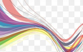 Rainbow Wave Line Decorations - Line Rainbow Color PNG