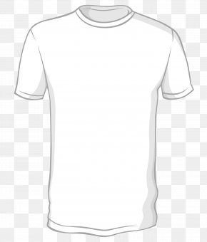 Hand-painted Pure White T-shirt Vector - Long-sleeved T-shirt PNG