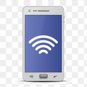 Vector White Smartphone - Wireless Wi-Fi Smartphone Icon PNG