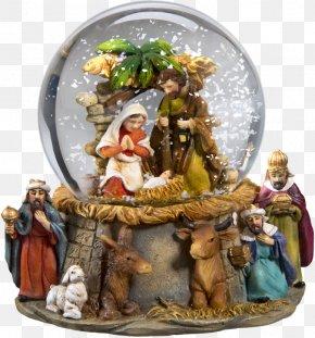 Padre Pio - Bethlehem Nativity Scene Snow Globes Christmas Ornament PNG