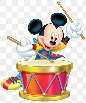 Mickey Mouse With Drum Transparent Clip Art Image - Mickey Mouse Minnie Mouse Donald Duck Daisy Duck Clip Art PNG