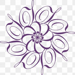 Purple Circle Lace Texture - Calligraphy Ornament PNG