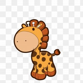 Giraffe - Giraffe Cartoon Infant Clip Art PNG