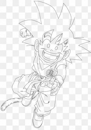 Vector Line - Dragon Ball Z: Battle Of Z Goku Gohan Line Art Drawing PNG
