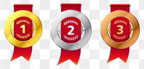 Winner Medal Cliparts - Gold Medal Silver Medal Olympic Medal Clip Art PNG