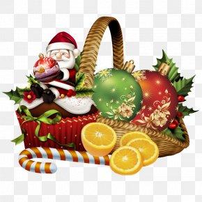 Santa Claus - Clip Art Christmas Christmas Day Santa Claus Food Gift Baskets PNG