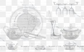 Kitchen Utensils Painted - Tableware Teapot RGB Color Model PNG