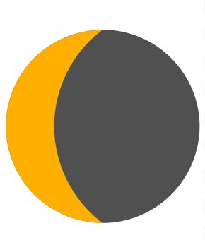 Crescent Moon Clipart - Earth Lunar Phase Moon Clip Art PNG