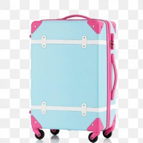 Small Fresh Suitcase - Baggage Suitcase Trolley Travel Hand Luggage PNG