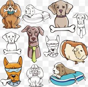 Cute Pet Dog Eat Bones - Dog Collar Cat Pet PNG