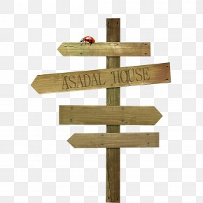 Free Wooden Signpost To Pull The Material - Wood Information Sign PNG