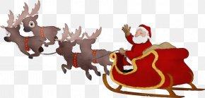 Christmas Eve Deer - Santa Claus Drawing PNG