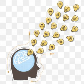 Brain Cell Phone - Cerebrum Human Brain Icon PNG