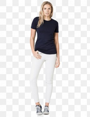 Womens - T-shirt Clothing Sleeve Crew Neck PNG