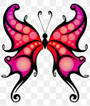 Red Butterfly Cliparts - Butterfly Purple Cartoon Clip Art PNG