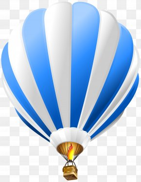 Hot Air Balloon Blue Transparent Clip Art Image - Hot Air Balloon Paper Blue Clip Art PNG