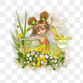 -painted Frame Material - Floral Design Fairy Easter Flowering Plant PNG