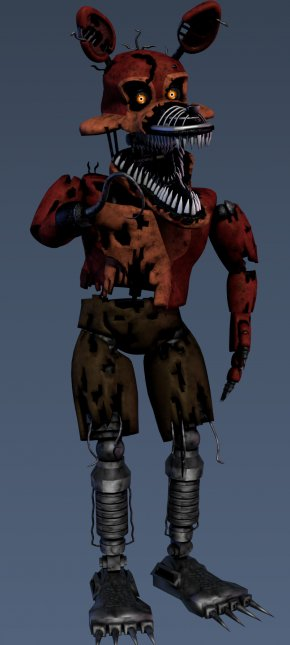 Nightmare Foxy - Five Nights At Freddy's 4 DeviantArt Drawing PNG