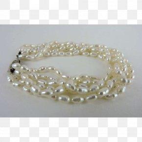 Necklace - Pearl Bead Bracelet Necklace PNG