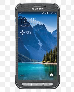 Titanium Gray Samsung Galaxy S5 Active16 GBRuby RedAT&TGSM Samsung Galaxy S5 ActiveCamo GreenAT&T Samsung Galaxy S5 Active16 GBTitaniumStraight Talk Samsung Galaxy S - Samsung Galaxy S5 Active G870A 16GB Unlocked GSM Extremely Durable Smartphone W/ 16MP Camera PNG